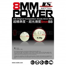 ICS 0.48g 8mm BBs 1.000PCS Bag OEM