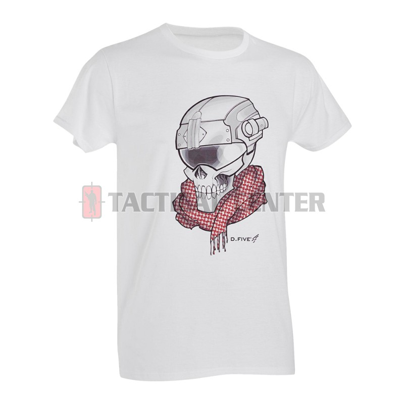 D.FIVE DF5-F61430-1 T-Shirt Skull with Helmet