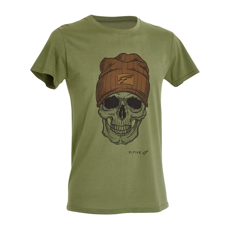 D.FIVE DF5-F61430-2 T-Shirt Skull with Wool Cap