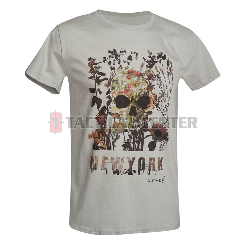 D.FIVE DF5-F61430-6 T-Shirt Skull with Flowers