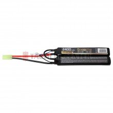 DRAGONPRO DP-L7-019 7.4V 2400mAh 20C LiPO (1+1) 128x21x13mm