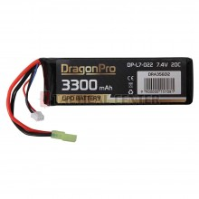 DRAGONPRO DP-L7-022 7.4V 3300mAh 20C LiPO 135x43x13.5mm