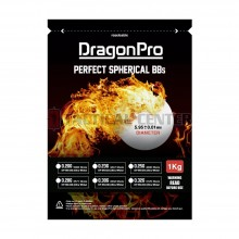 DRAGONPRO DP-6N-025 Competition Grade BB 0.25g 1KG (ULTRA White)