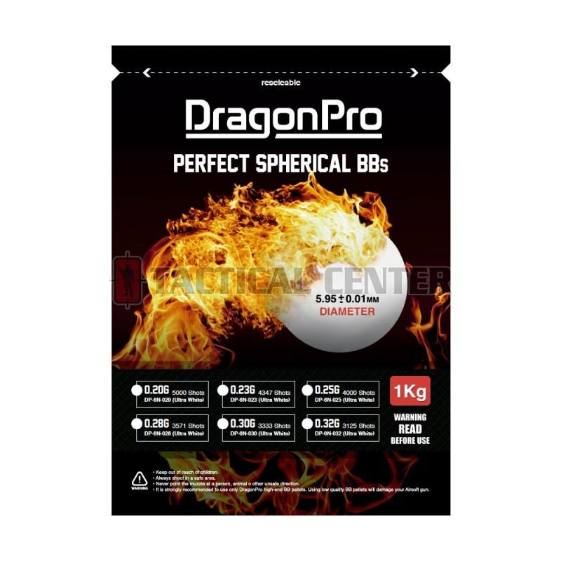 DRAGONPRO DP-6N-025 Competition Grade BB 0.25g 1KG (ULTRA White)
