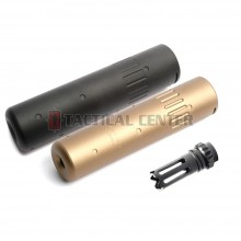 G&G SCAR Sound Suppressor + Flash Supressor Tan (14mm CCW) / G-01-023