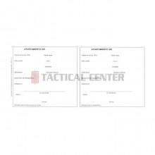 Tarjeta Blanca Registro Armas 4ª Categoría (Díptico)
